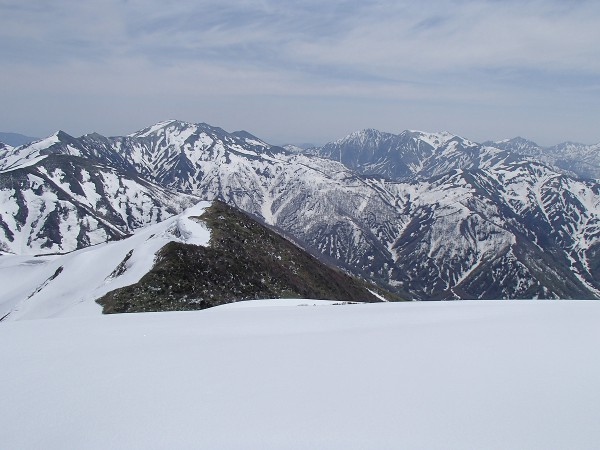 13 左から)大烏帽子山、JP、清水峠、谷川岳