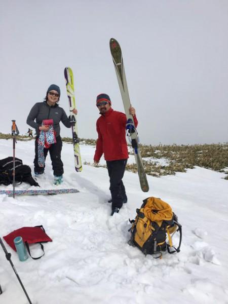 滝沢と須藤さん at 一の倉岳頂上